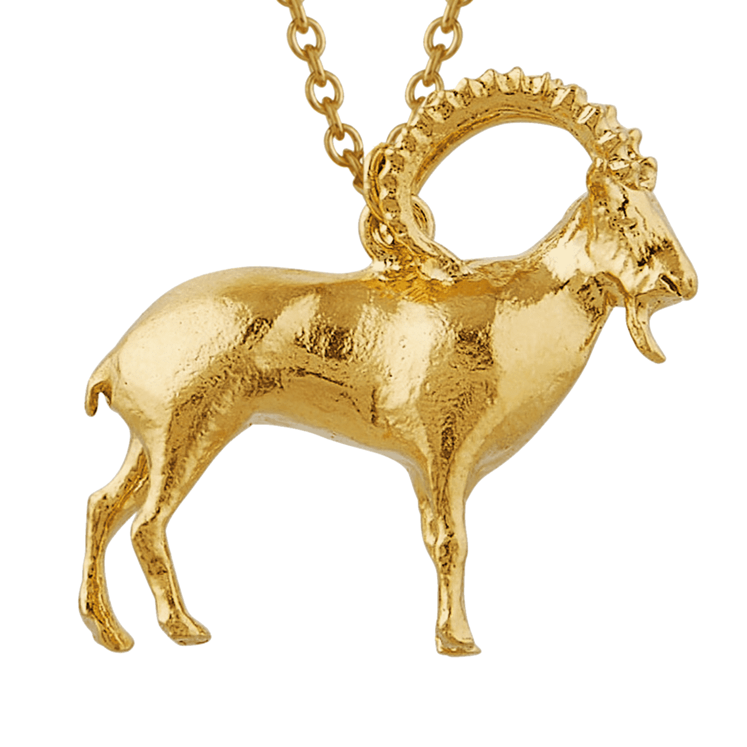 Gold Plated Ram Necklace