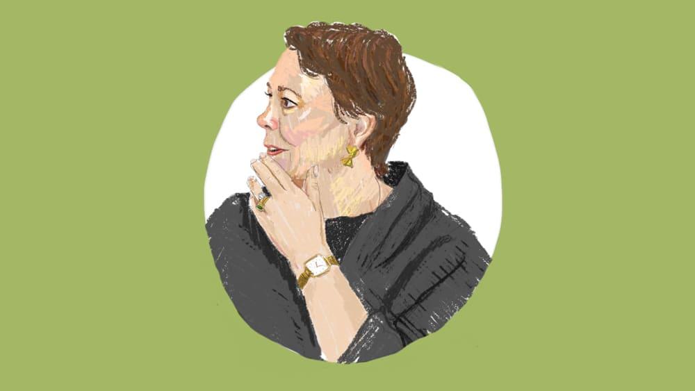 Olivia Colman Illustration