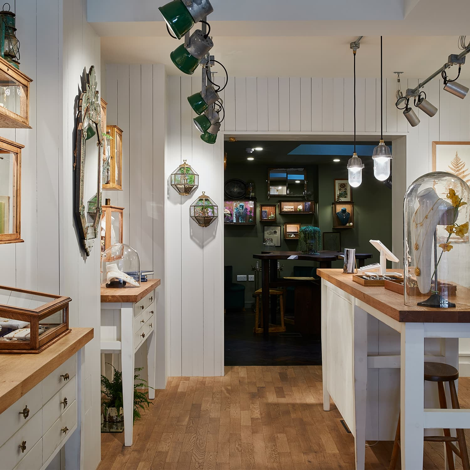 alex monroe jewellery flagship boutique on floral street in covent garden london with bespoke cabinets and handmade jewellery