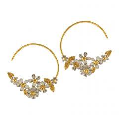 Posy Bloom Hoop Earrings Product Photo