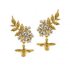 Posy Bloom Bee Earrings Product Photo