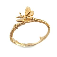 Tiny Butterfly Ring on Paper