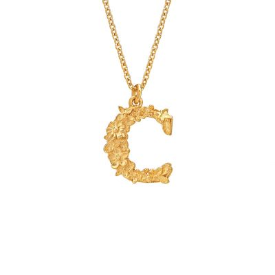 Floral Letter C necklace Product Photo