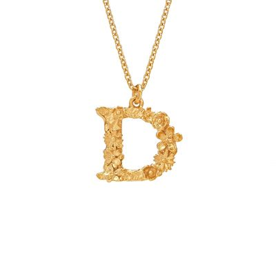 Floral Letter D Necklace Product Photo