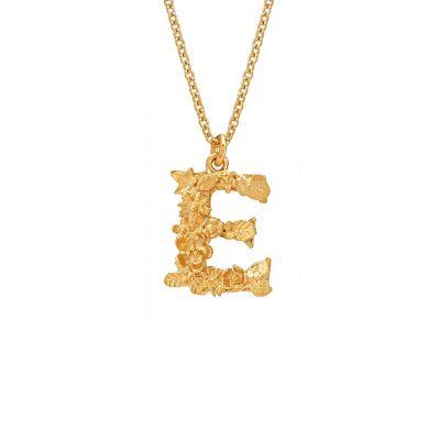 Floral Letter E Necklace Product Photo