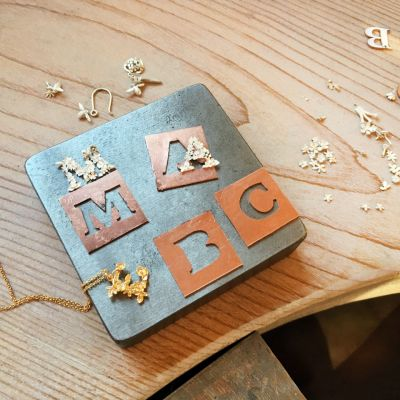 Create your own Floral Alphabet Necklace | Jewellery School