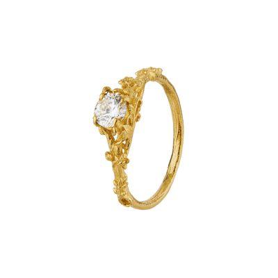 Fine Bark Diamond Ring Product Photo