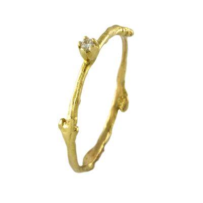 Fine Twig Diamond Ring Product Photo