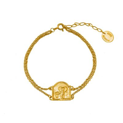 Elephant Diorama Double Chain Bracelet Product Photo