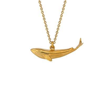 Baby Blue Whale Necklace Product Photo