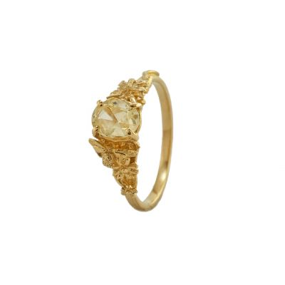 Beekeeper Daisy Ring with Buttercup Yellow Sapphire Product Photo