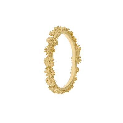 Itsy Bitsy Daisy Fine Wreath Ring with Single Bee Product Photo
