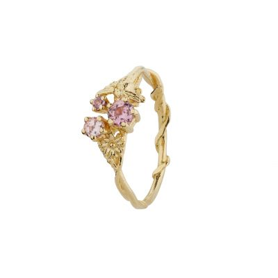 Beekeeper Cerise & Lavender & Blush pink Sapphire Trilogy Ring Product Photo
