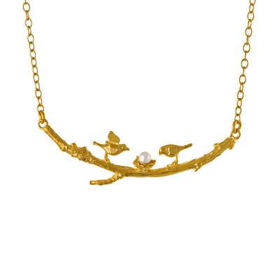 Two Birds on a Branch Necklace Product Photo
