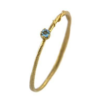 Aquamarine Fine Vine Ring Product Photo