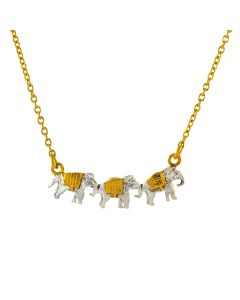 Marching Elephants Necklace Product Photo