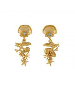 Coral Reef Opal Drop Earrings Product Photo