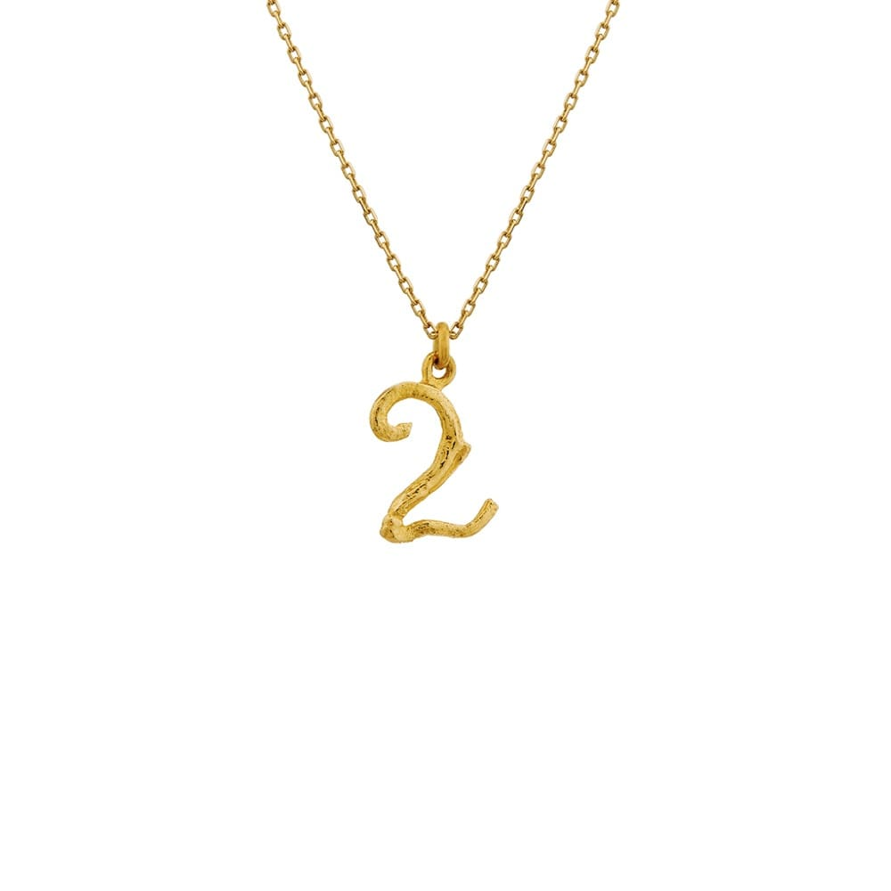 Enchanted Woodland 18ct Gold Number 2 Necklace