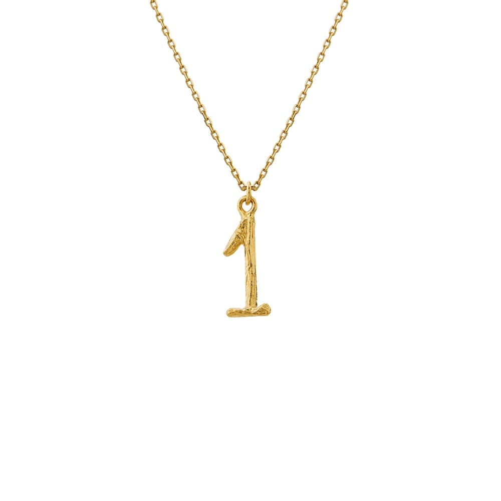 Enchanted Woodland 18ct Gold Number 1 Necklace