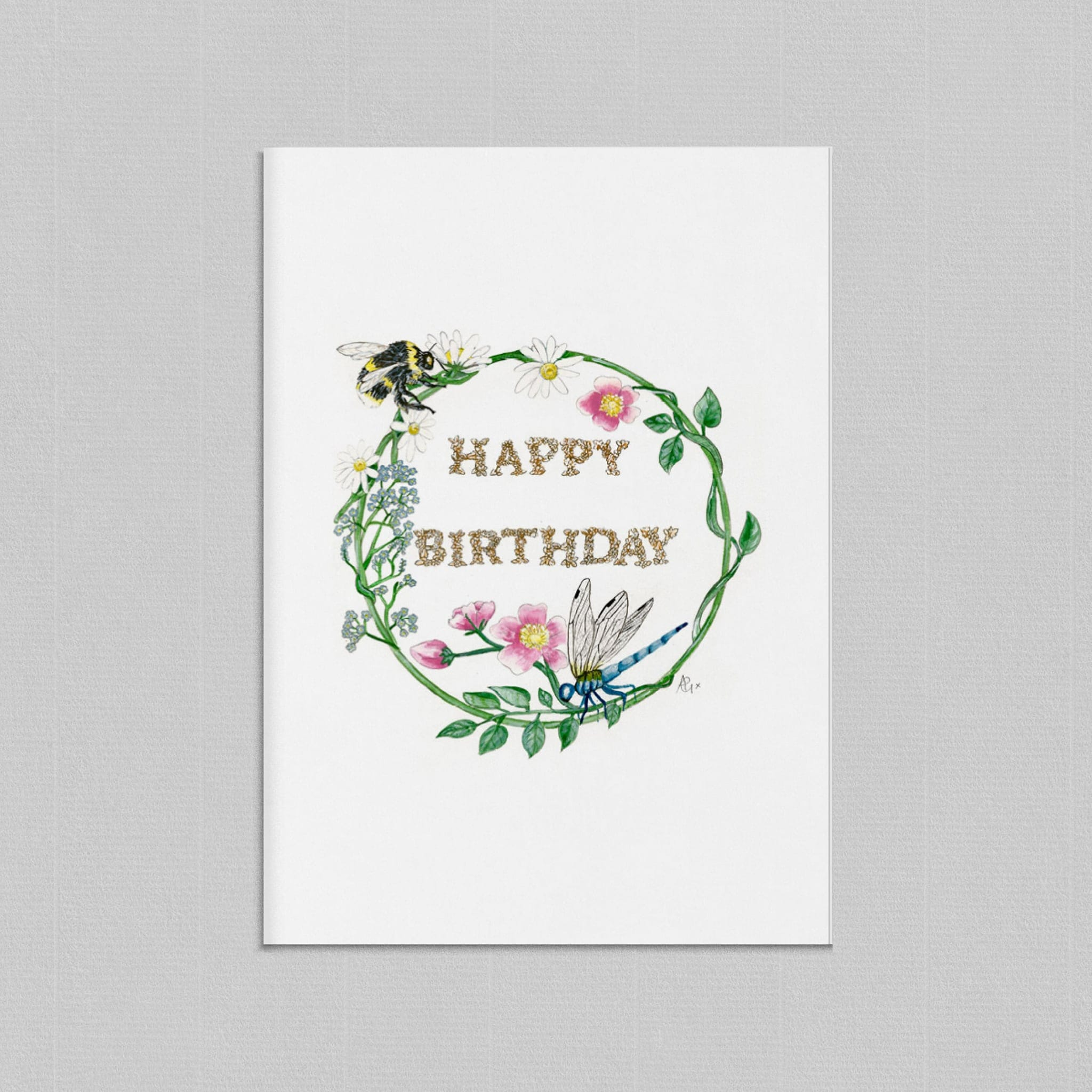 Happy Birthday Illustrated Greetings Card