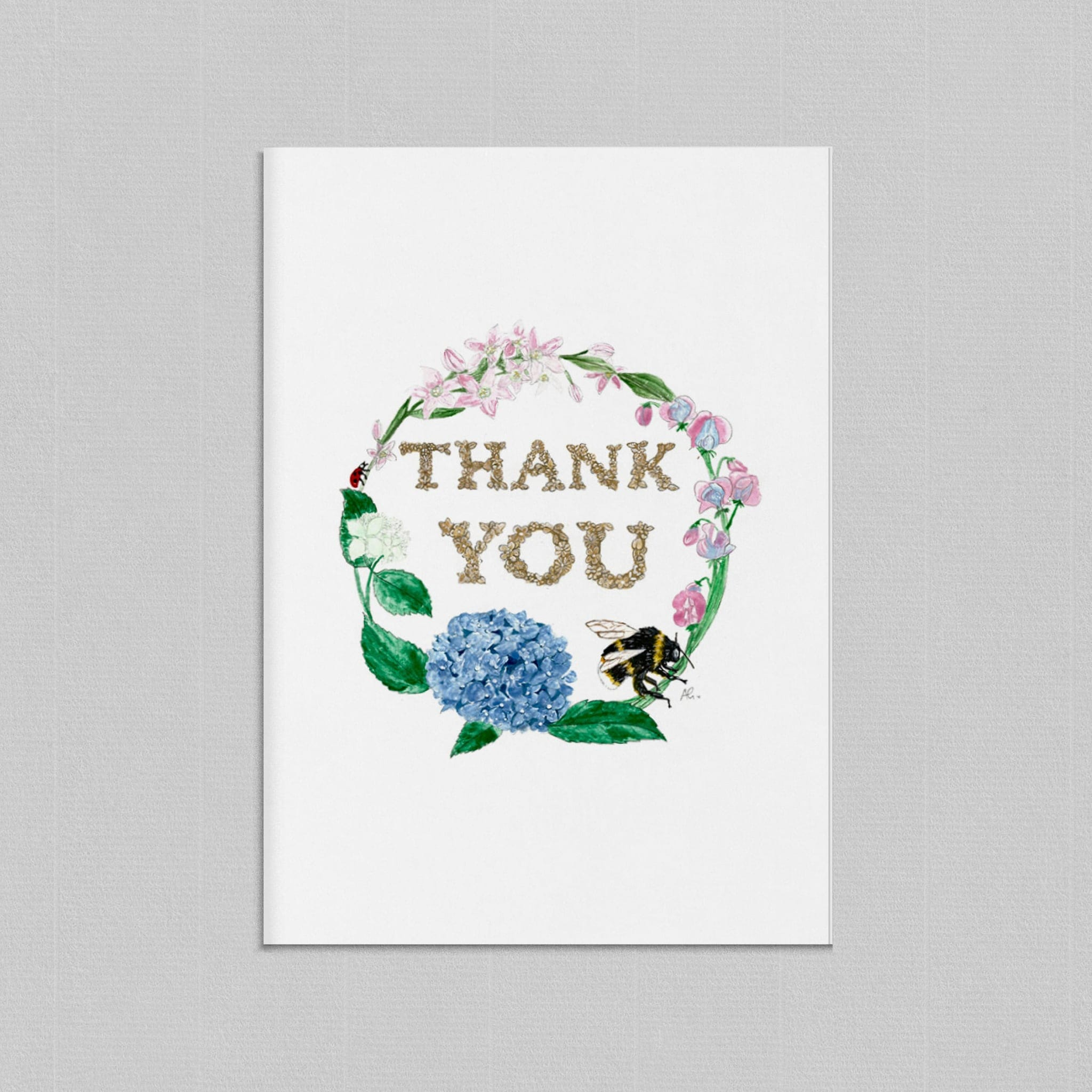Thank You Illustrated Greetings Card